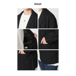 2019 春夏 新作 サマージャケット メンズ 綿麻 テーラードジャケット 夏 リネン ジャケット メンズ 7分袖ジャケット 夏男|arcade|04