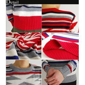 売り尽くしセール オルテガ柄 ジャガード織り ニット セーター|arcade|03
