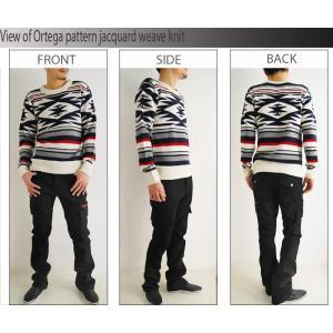 売り尽くしセール オルテガ柄 ジャガード織り ニット セーター|arcade|05