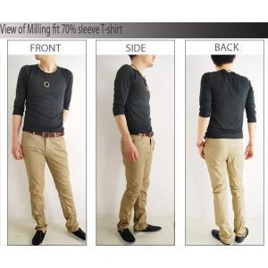 Tシャツ メンズ フライス フィットデザイン 7分袖 七分袖 Tシャツ カットソー インナー 七分袖 カットソー メンズ|arcade|06