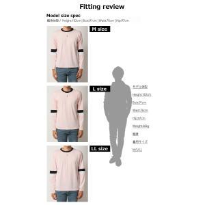 ロンT ロング Tシャツ メンズ W袖ライン 長袖 カットソー|arcade|06