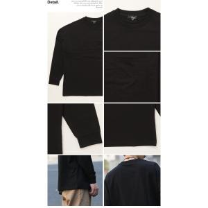 ロンT メンズ 長袖 ドロップショルダー オーバーサイズ ビッグポケット 長袖 Tシャツ 2019 春 夏 新作 arcade 03