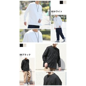 ロンT メンズ 長袖 ドロップショルダー オーバーサイズ ビッグポケット 長袖 Tシャツ 2019 春 夏 新作 arcade 04