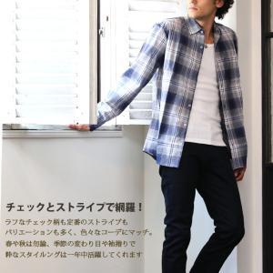 カジュアル シャツ ボタンダウン シャツ メンズ 長袖 ブロード ストライプシャツ チェックシャツ 白シャツ ギンガムチェック アメカジ|arcade|03