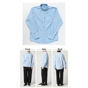 カジュアル シャツ ボタンダウン シャツ メンズ 長袖 ブロード ストライプシャツ チェックシャツ 白シャツ ギンガムチェック アメカジ|arcade|05