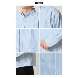 カジュアル シャツ ボタンダウン シャツ メンズ 長袖 ブロード ストライプシャツ チェックシャツ 白シャツ ギンガムチェック アメカジ|arcade|06