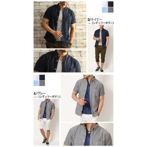シャツ 半袖 メンズ 選べる8タイプ オックスフォードボタンダウンシャツ 白シャツ カジュアルシャツ 2019 夏 新作|arcade|05