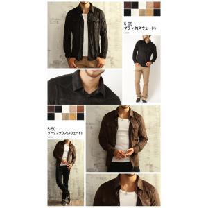 シャツ メンズ 選べる2種類 ウェスタンシャツ コーデュロイ&フェイススウェード (カットソー トップス) メンズ セール|arcade|08