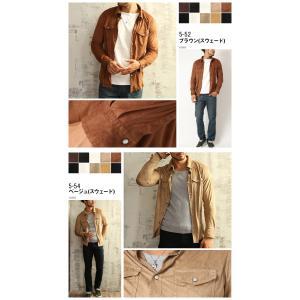 シャツ メンズ 選べる2種類 ウェスタンシャツ コーデュロイ&フェイススウェード (カットソー トップス) メンズ セール|arcade|09