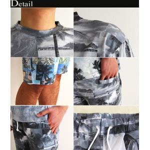 上下 セットアップ メンズ セットアップ Tシャツ ショートパンツ メンズ ハーフパンツ 柄 夏 メンズファッション セール 送料無料|arcade|03
