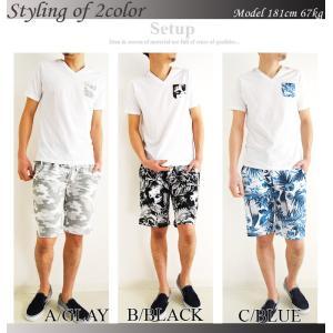上下 セットアップ メンズ セットアップ Tシャツ ショートパンツ メンズ ハーフパンツ 柄 夏 メンズファッション セール 送料無料|arcade|04
