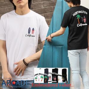 送料無料 Tシャツ メンズ 半袖 サガラ刺繍 ボックスロゴ ワッペン 綿 おしゃれ 2019 夏 新作|arcade