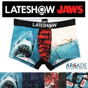 ボクサーパンツ メンズ ボクサーブリーフ 映画 JAWS ジョーズ LATE SHOW レイトショー コラボ 下着|arcade