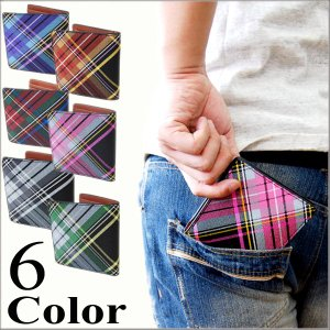 財布/メンズ/財布/さいふ/サイフ/メンズ/二つ折り財布/メンズ/チェック/二つ折り財布 コインケース|arcade
