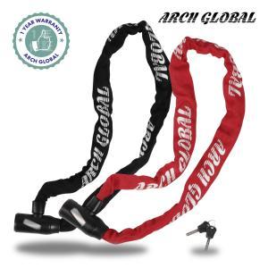 自転車 鍵 チェーンロック 軽量コンパクト仕様 ロードバイク サドルバッグにも収納可 100cm 特殊ディンプルキー 鍵穴カバー付き スペアキー 付き