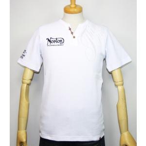Norton ノートン 服 サーマルYネックヘンリー半袖Tシャツ 192N1011【ホワイト】(1988)新品/送料無料|arches