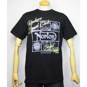 Norton ノートン 服 吸水速乾 ネオンプリント半袖Tシャツ 192N1013【ブラック】(1985)新品/送料無料|arches