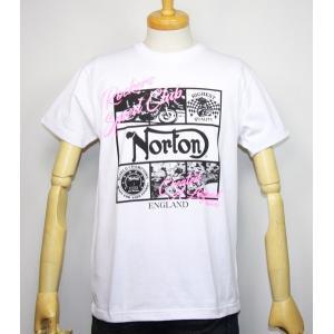 Norton ノートン 服 吸水速乾 ネオンプリント半袖Tシャツ 192N1013【ホワイト】(1984)新品/送料無料|arches