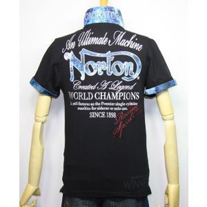Norton ノートン 服 吸水速乾 ブルースチール 半袖ポロシャツ 192N1210【ブラック】(2015)新品/送料無料|arches