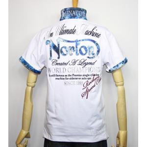 Norton ノートン 服 吸水速乾 ブルースチール 半袖ポロシャツ 192N1210【ホワイト】(2016)新品/送料無料|arches