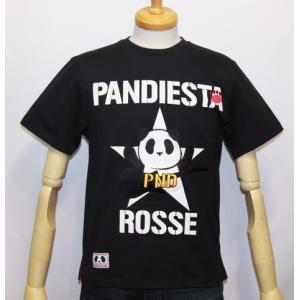 和柄/錦 パンダ( PANDIESTA JAPAN)クラッシュ パンダ半袖Tシャツ (品番515203)【ブラック】(1544)新品/送料無料|arches