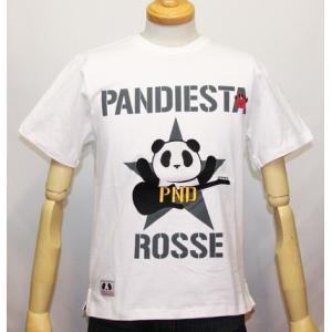 和柄/錦 パンダ( PANDIESTA JAPAN)クラッシュ パンダ半袖Tシャツ (品番515203)【ホワイト】(1543)新品/送料無料|arches