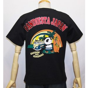 和柄/錦 パンダ( PANDIESTA JAPAN)サーフ&ワゴン パンダ半袖Tシャツ (品番525200)【ブラック】(1547)新品/送料無料|arches