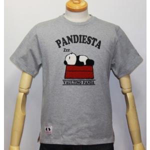 和柄/錦 パンダ( PANDIESTA JAPAN) スリーピングパンディエスタ半袖Tシャツ (品番525220)【グレー】(1605)新品/送料無料|arches