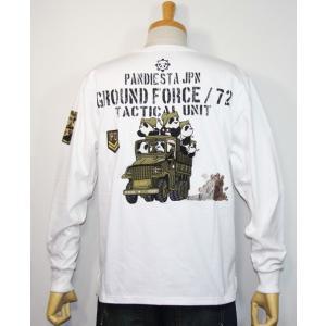 PANDIESTA JAPAN(パンディエスタ)ハコ乗りジープ ミリタリー長袖Tシャツ  598213【ホワイト】(1909)新品 送料無料|arches