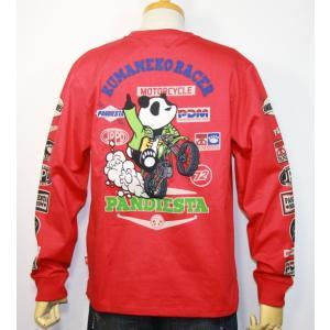 PANDIESTA JAPAN(パンディエスタ)熊猫レーサー長袖Tシャツ  598852【レッド】(1912)新品 送料無料|arches