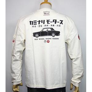 カミナリモータース KAMINARI(カミナリ) 雷 エフ商会  旧車『ブルーバード510』長袖Tシャツ KMLT-123【ホワイト】(2220)新品/送料無料 arches