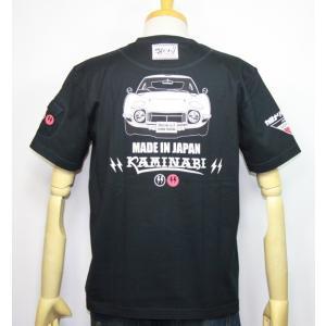 カミナリモータース KAMINARI(カミナリ) 雷 エフ商会 旧車 『MADE IN JAPAN 2000GT』半袖Tシャツ KMT-191【ブラック】(1967)新品|arches