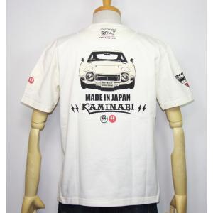 カミナリモータース KAMINARI(カミナリ) 雷 エフ商会 旧車 『MADE IN JAPAN 2000GT』半袖Tシャツ KMT-191【ホワイト】(1966)新品|arches