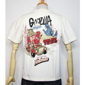 エフ商会・TEDMAN ・テッドマン×ゴジラ(Godzilla) コラボ 半袖Tシャツ TDGZ-100【ホワイト】(1817)新品 送料無料|arches