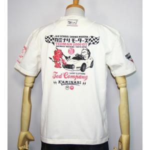 カミナリモータース×TEDMAN(テッドマン)コラボ・エフ商会 半袖Tシャツ『2000GT風キッズカー』 TDKMT-13【ホワイト】(1960)新品|arches