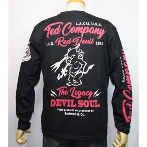 エフ商会・TEDMAN'S ・テッドマン  『スタンダード テッド 』長袖Tシャツ TDLS-320【ブラック】(2117)新品/送料無料|arches