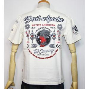 エフ商会・TEDMAN'S ・テッドマン デビル アパッチテッドマン(ネイティブ・インディアン)半袖Tシャツ TDSS-477【ホワイト】(1828)新品|arches