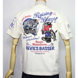 エフ商会・TEDMAN'S ・テッドマン バス釣り(TEDDONテドン)半袖Tシャツ TDSS-502【ホワイト】(2044)新品|arches