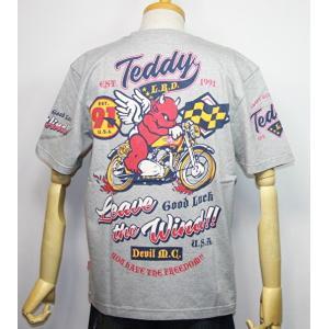 エフ商会・TEDMAN'S ・テッドマン  レーサーバイク柄(Leave the wind風を抜け)半袖Tシャツ TDSS-504【アッシュ】(2062)新品|arches