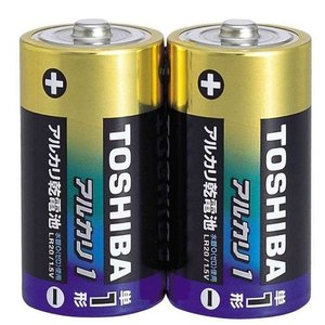 東芝 アルカリ乾電池 単1形(2本入り×5パック) LR20AG/2KP|archholesale
