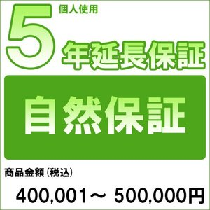 個人5年延長保証 自然故障 商品金額 税込400,001円〜500,000円用 archholesale