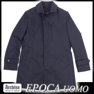 エポカ EPOCA UOMO 黒ステッチアクセント着脱ライナー付きステンカラーコート 46サイズ・48サイズ S52944-45