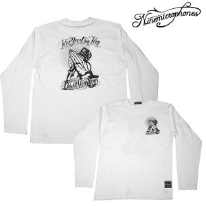 【Nine Microphons】  PRAY WITH THE MICROPHONE L/S White  【ナインマイクロフォンズ】|archrival