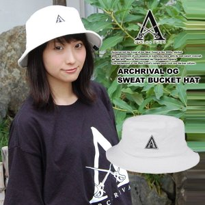 ARCHRIVAL OG SWEAT BUCKET HAT WHITE|archrival