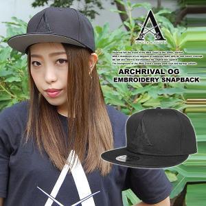 ARCHRIVAL OG EMBROIDERY SNAPBACK CAP BLACK x BLACK|archrival