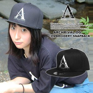ARCHRIVAL OG EMBROIDERY SNAPBACK CAP BLACK x WHITE|archrival