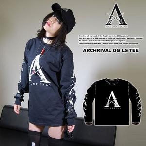 ARCHRIVAL OG LS TEE BLACK アーチライバル オリジナル オージー ロングスリーブTシャツ ブラック 黒|archrival