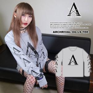 ARCHRIVAL OG LS TEE GRAY アーチライバル オリジナル オージー ロングスリーブTシャツ グレイ 灰|archrival