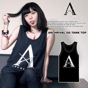 ARCHRIVAL OG TANKTOP BLACK アーチライバル オリジナル タンクトップ ブラック 黒|archrival
