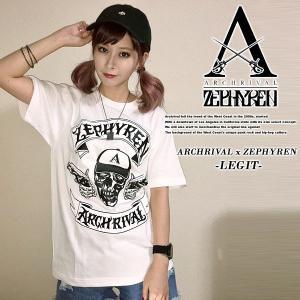 ARCHRIVAL x ZEPHYREN -LEGIT WHITE 半袖Tシャツ ホワイト 白 ゼファレン|archrival